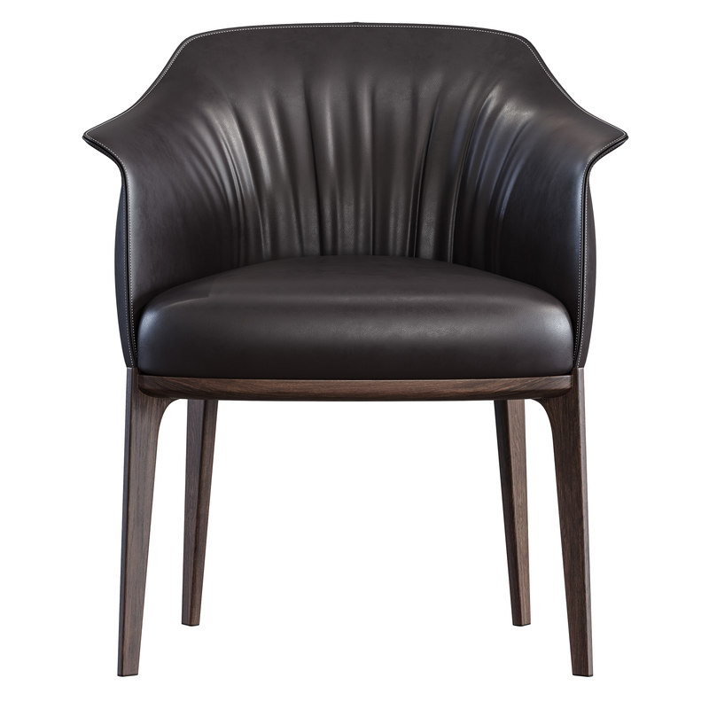 3D archibald dining chair poltrona frau model - TurboSquid 1412427
