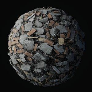 Debris Piles PBR seamless textures 4K Texture