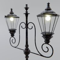 old lamp post 3D