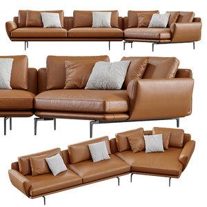 sofa poltrona frau 3D model