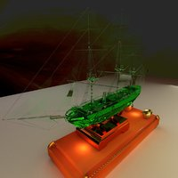 3D chinese junk