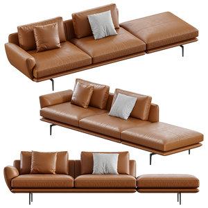 sofa poltrona frau 3D