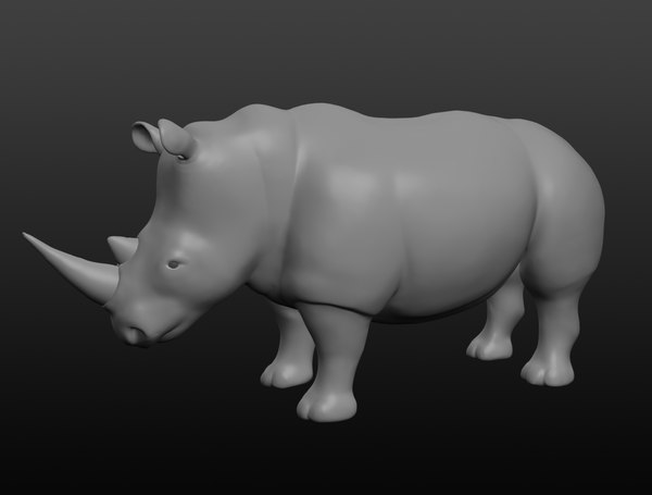 rhinoceros base mesh model