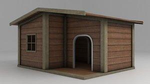 3D doghouse shelter model