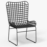 3D metal grid chair