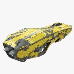 sci-fi speeder hover 3D