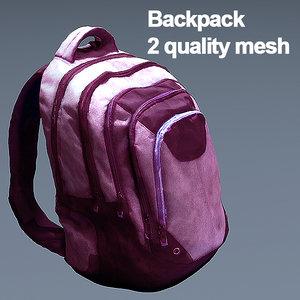 backpack games model