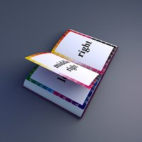 3D rigged book template model