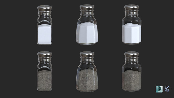 salt pepper shakers 3D model