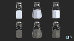 salt pepper shakers 3D model