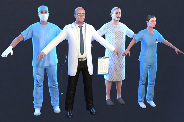 3D medical pack surgeon doctor