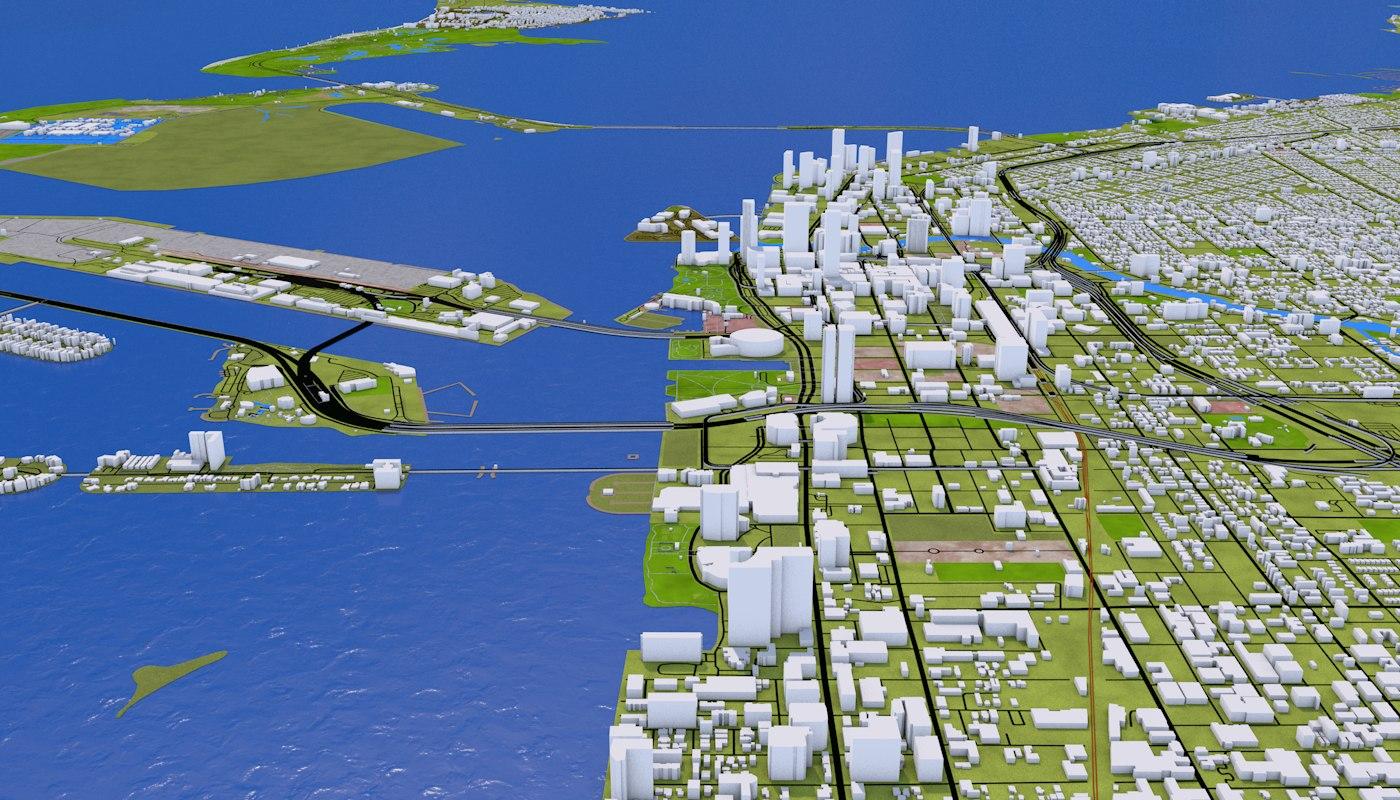 Miami City 3D model