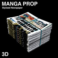 3D MANGA ASSET | NEWSPAPER