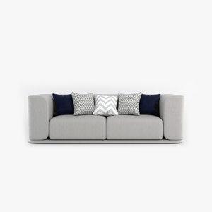 3D model sofa pillows
