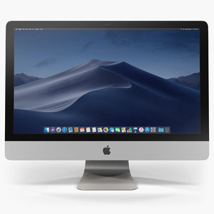 low-poly apple imac retina 3D model