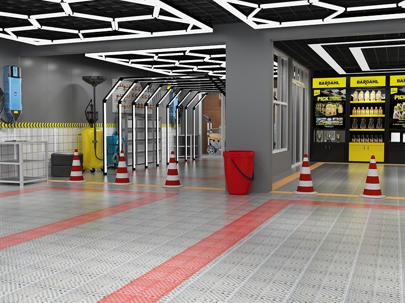 repair beauty service station 3D model
