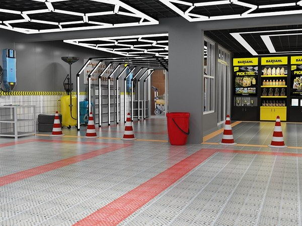 repair beauty service station 3D model