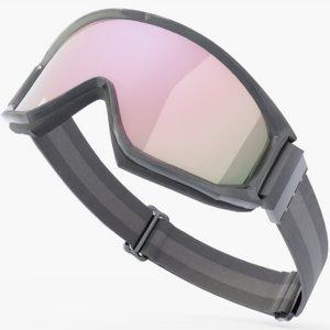 3D model ski goggles