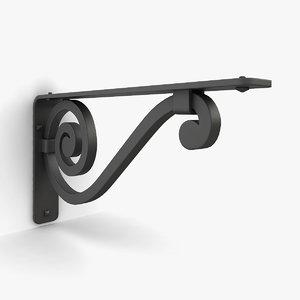 3D iron shelf bracket 04