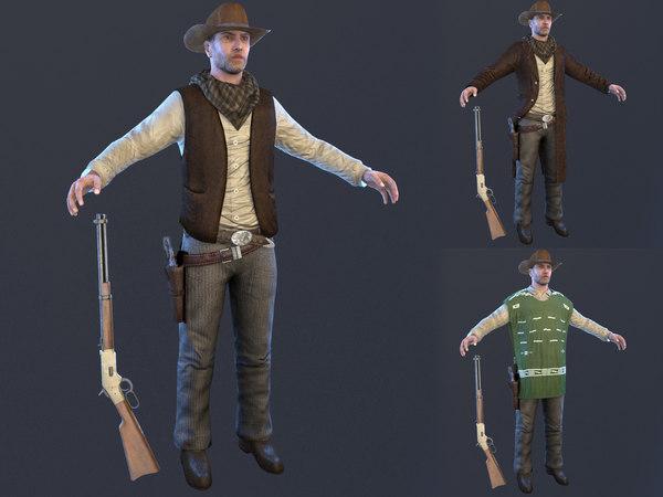 cowboy hat 3D model