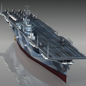 uss intrepid cv-11 1944 3D model