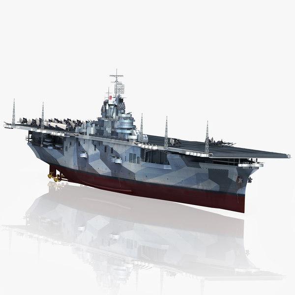 uss intrepid cv-11 1944-1945 3D