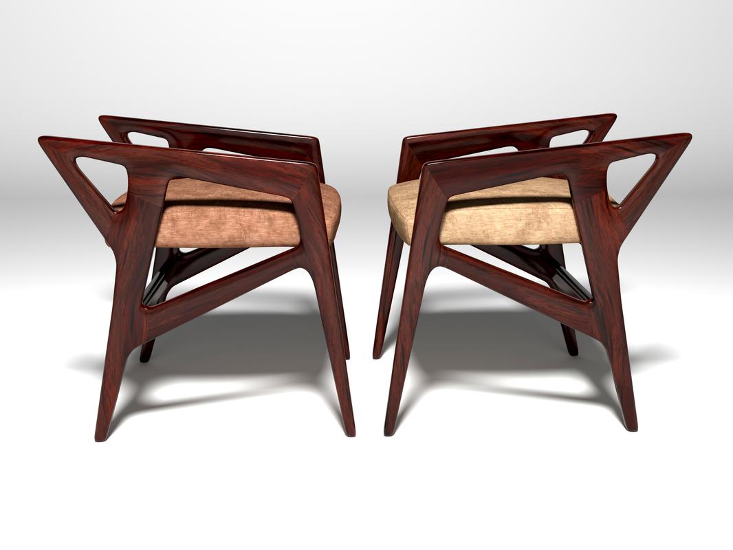 chair ponty designer furniture 3D model