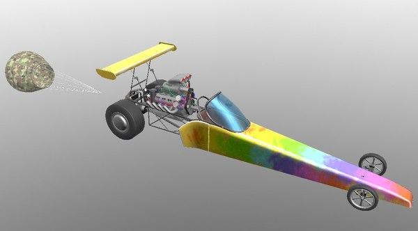 3D dragster drag