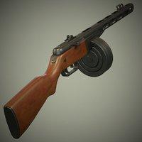 ppsh 41 soviet 3D model