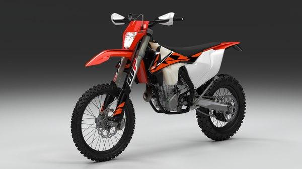 3D ktm exc 450 500 model