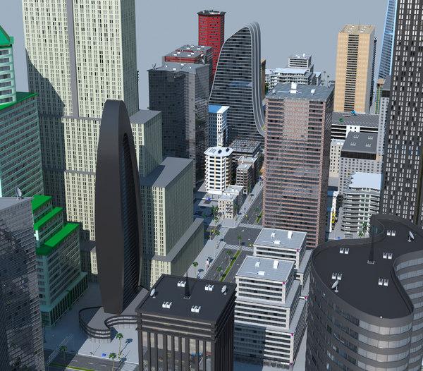 3D city a4 model