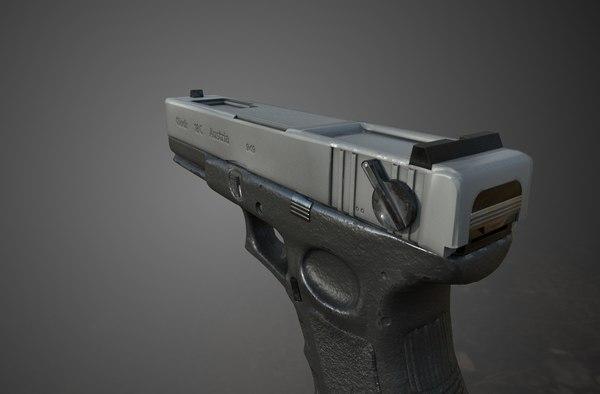 3D pistol rigged