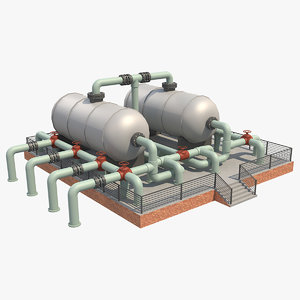 3D model industrial silo 7
