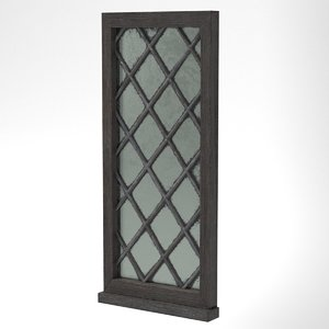 medieval window single lead 3D model