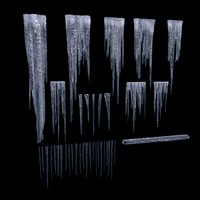 Icicles Low-poly set