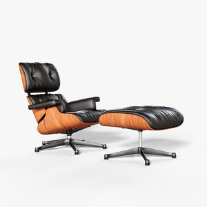 3D vitra lounge chair model