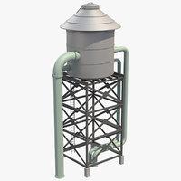 3D water tank 1 model