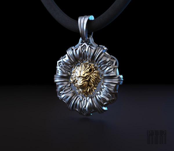 3D jewelry lion pendant patterns