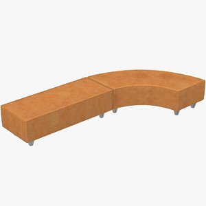 3D leather bench