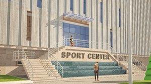 3D sport center model