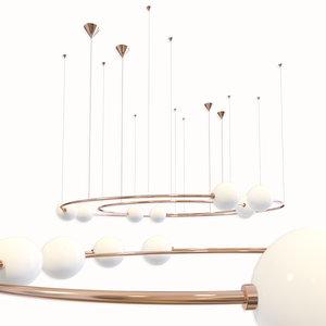 3D pendant lamp volker haug