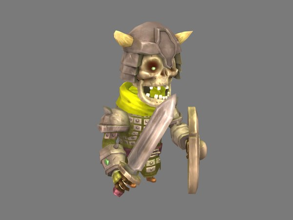 skeleton warrior 3D model