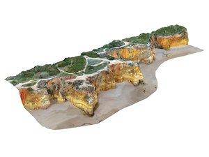 3D ocean cliff 16k
