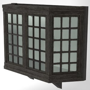 medieval bay window wood 3D model