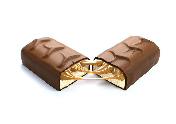 snickers chocolate bar broken model