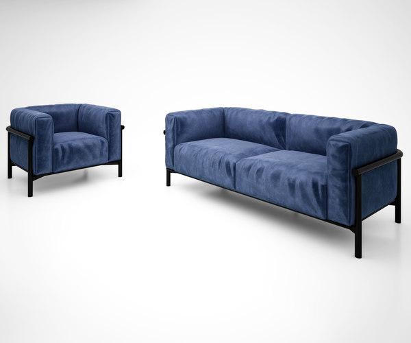 3D model taiki sofa lema spa