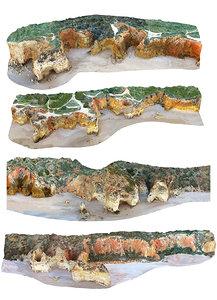 3D algarve mega cliff pack model