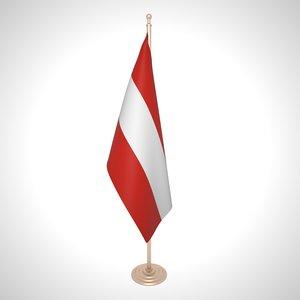 austria flag 3D