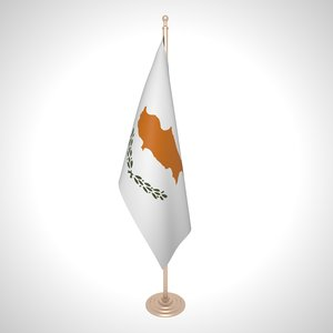 3D model cyprus flag