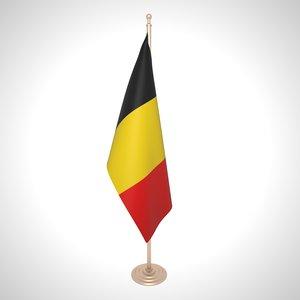 belgium flag 3D model